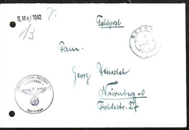 Feldpost-Deutsche Dienstpost EGER   (z8755 ) siehe scan
