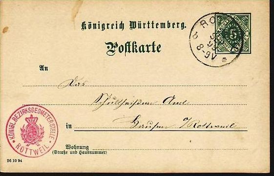 Würtemberg    Ganzsache   (z 8912 ) siehe scan !!