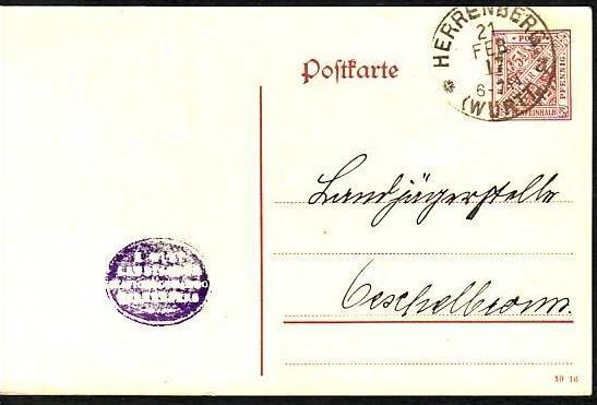 Würtemberg    Ganzsache   (z 8899 ) siehe scan !!