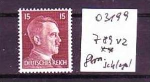D-Reich Nr. 789vz ** geprüft Schlegel  (o3199  ) siehe scan