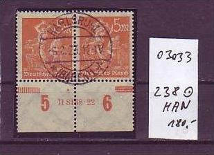 D-Reich Nr. 238  HAN  o  ( o3033 ) siehe scan !!