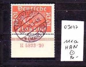 D-Reich Nr. 111a HAN   o  ( o3047 ) siehe scan !!