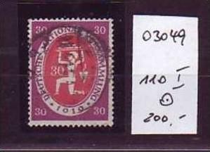 D-Reich Nr. 110  I   o  ( o3049 ) siehe scan !!