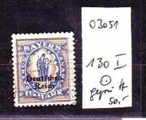 D-Reich Nr. 130  I   o  ( o3051 ) siehe scan !!