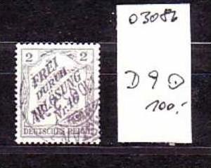 D.-Reich Nr. Dienst 9    o ( o3086 ) siehe scan