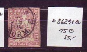 Schweiz Nr. 15   o  (o3629  ) siehe scan vergrößert