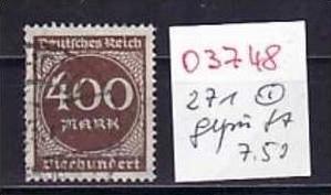 D-Reich Nr. 271   o ( o3748  ) siehe scan