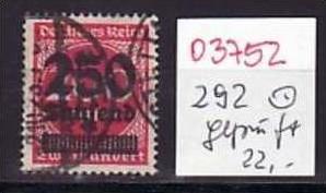 D-Reich Nr. 292    o ( o3752  ) siehe scan