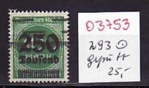 D-Reich Nr. 293    o ( o3753  ) siehe scan
