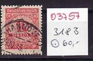 D-Reich Nr. 318 B   o ( o3757  ) siehe scan