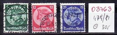 D-Reich Nr. 479-81   o ( o3763  ) siehe scan
