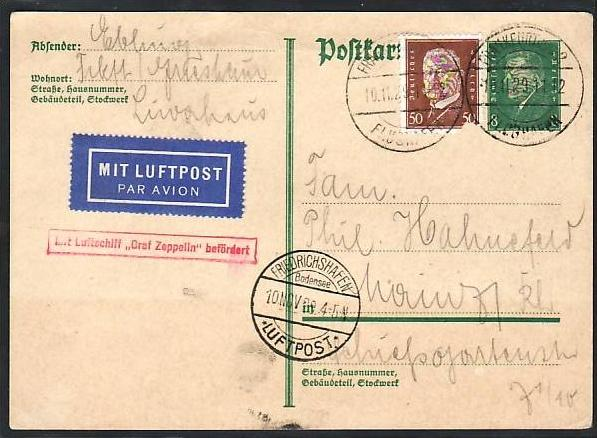 D-Reich Zeppelin Karte  (z9621  ) siehe scan
