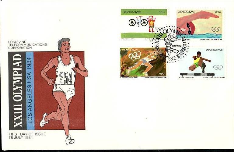 Zimbabwe   Nr.  289-92    FDC    (dc7088 ) siehe scan
