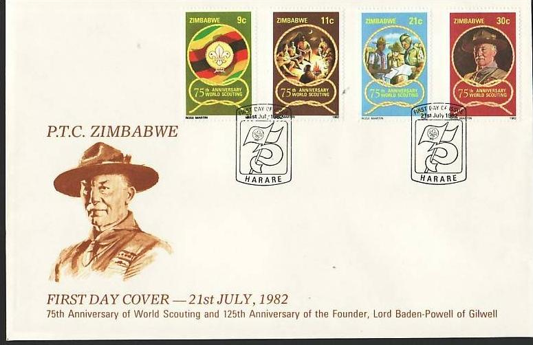Zimbabwe   Nr.  265-8   FDC    (dc7090 ) siehe scan