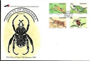 Zimbabwe   Nr.  374-77    FDC    (dc7091 ) siehe scan