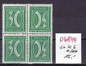 D.-Reich Zusammendruck  2x k6  */** (o6844 ) siehe scan