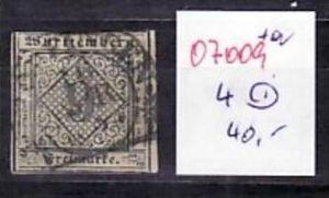 Würtemberg   Nr. 4   o     ( o7009  ) siehe scan