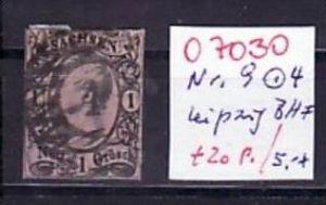 Sachsen   Nr.  9   Nummernstempel 4    o  ( o7030  ) siehe scan