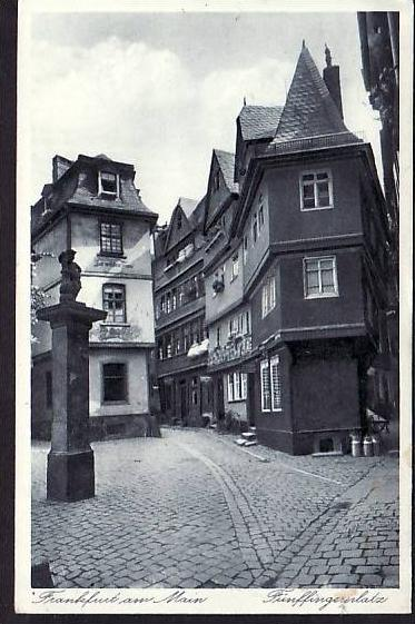 Alte Karte  Frankfurt-Main    ( da2140   ) siehe scan
