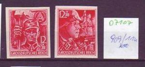 D.-Reich Nr. 909 /10 U   **-MNH  ( o7107  )  siehe scan  !!