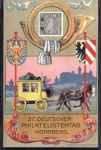 D.-Reich Karte  27.Deutscher Philatelisten Tag Nürnberg    ( da2171 ) siehe scan