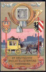 D.-Reich Karte  27.Deutscher Philatelisten Tag Nürnberg    ( da2167 ) siehe scan