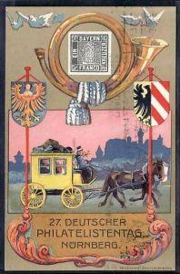 D.-Reich Karte  27.Deutscher Philatelisten Tag Nürnberg    ( da2169 ) siehe scan