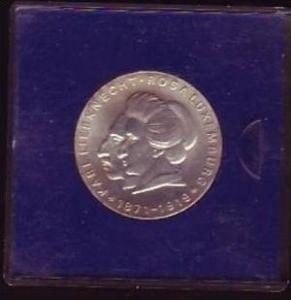DDR Münze  20 Mark  K.Liebknecht+Rosa Luxemburg 1971 -Silber  bankfrisch  (x416 ) siehe scan