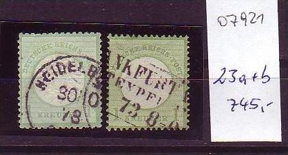 D-Reich   Nr.  23 a+b     o  (o7921   ) siehe scan 0