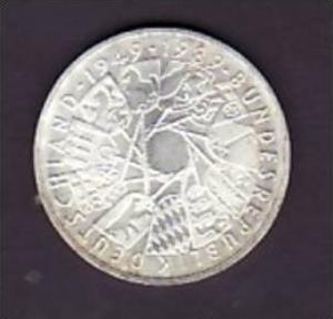 BRD 10 D.-Mark -Silber  /1989  G/ 40 Jahre BRD (x449 ) siehe scan !