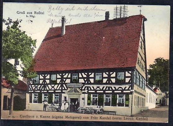 Roßtal-Nürnberg alte Karte
