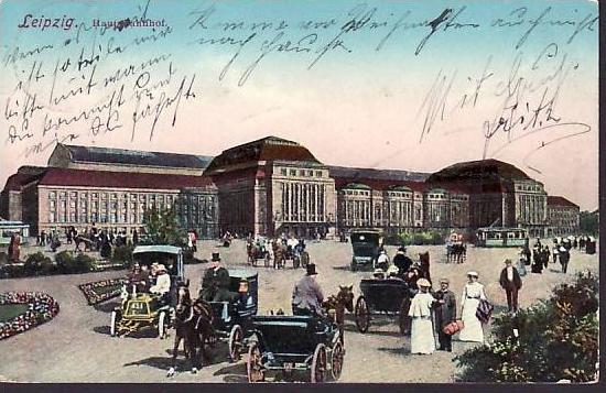 schöne alte Karte  Leipzig  1911  ( da 2197  ) siehe scan