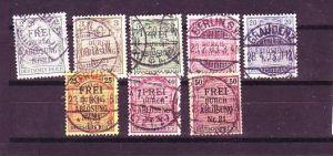 D-Reich Nr.  D 1-8    o  ( o8621  ) siehe scan
