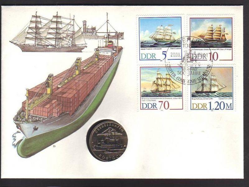 offizieller Numisbrief-DDR  Schiffsbau    (dc8873) siehe scan