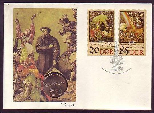 offizieller Numisbrief-DDR   Thomas Müntzer   (dc8875 ) siehe scan