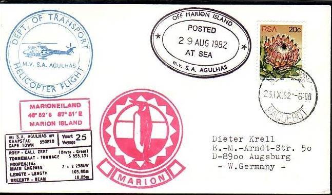 Polarpost -Sammler -Beleg  (ba 2465  ) siehe Bild  !