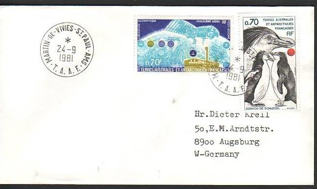 Polarpost -Sammler -Beleg  (ba 2398 ) siehe Bild  !