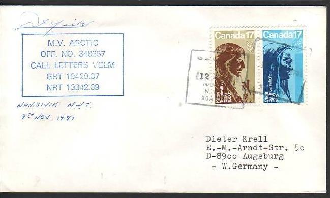 Polarpost -Sammler -Beleg  (ba 2408 ) siehe Bild  !