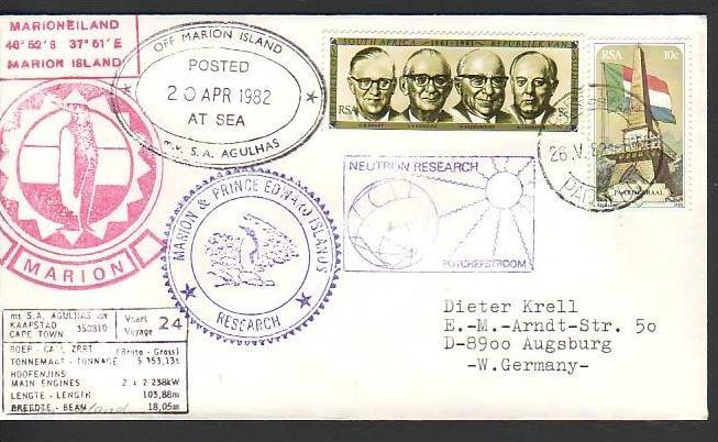 Polarpost -Sammler -Beleg  (ba 2425 ) siehe Bild  !