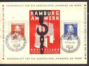 Sonderkarte Hamburg 1948   (ba2492 ) siehe scan
