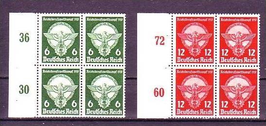 D.-Reich Nr. 4x689-90  **    (o9044  ) siehe scan !