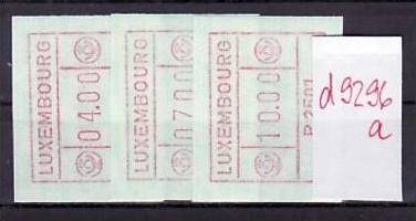 Luxemburg Nr. Automaten  **  (d9296 a)  siehe scan