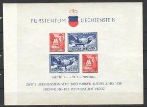 Liechtenstein  Block  2   ** etwas unfrisch  ( dc9386  ) siehe scan