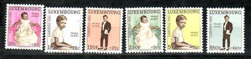 Luxemburg  Nr. 549-54  **  (d9673 )siehe scan !