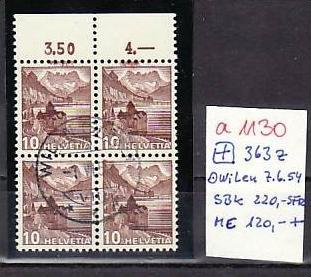 Schweiz  Nr.  4er  363 z   o      ( a1130  ) siehe scan  !