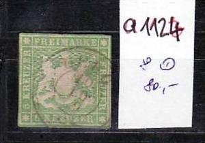 Würtemberg Nr. 8 o  (a1124 ) siehe scan