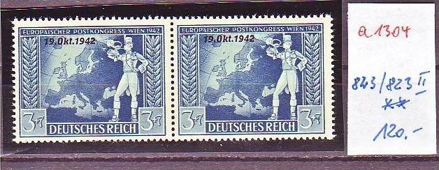 D.-Reich Nr. 823 /823 II    **  (a1304 ) siehe scan