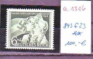 D.-Reich Nr. 843 f23    **  (a1306 ) siehe scan