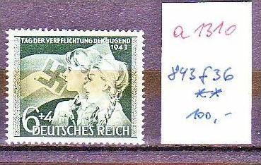 D.-Reich Nr. 843 f 36    **  (a1310 ) siehe scan