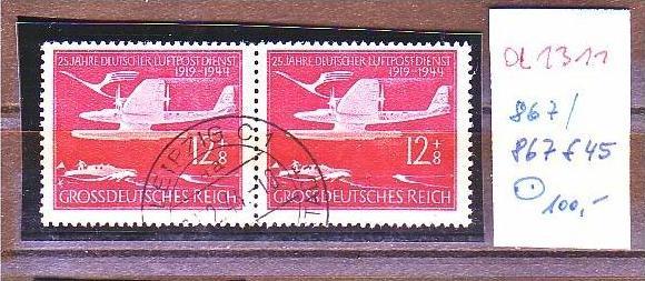 D.-Reich Nr. 867 / 867 f45   o  (a1311 ) siehe scan